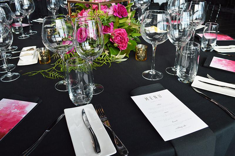 Modern gold foil wedding menu | Elegant gold foil wedding menu | Something Peach | Melbourne wedding